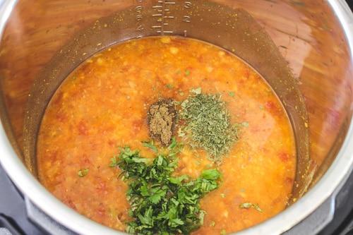 adding garam masala, kasoori methi