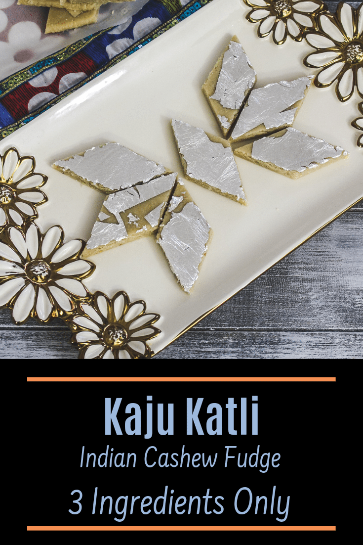 BEST Kaju Katli Recipe (Kaju Barfi) pin