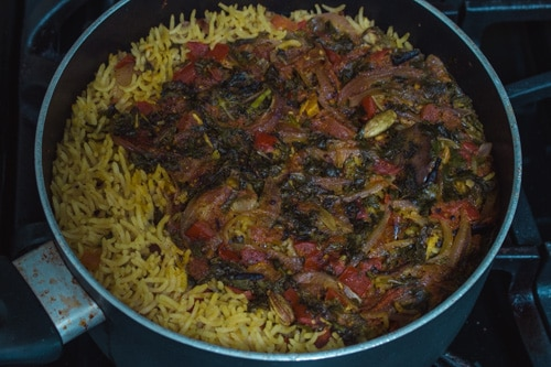 cooked kuska recipe (Plain biryani rice)