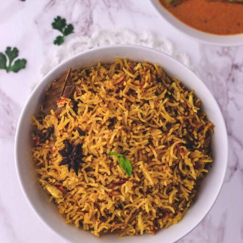 Kuska Rice Recipe (Plain Biryani)