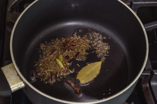 tempering whole spices