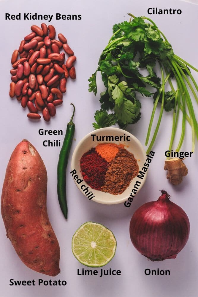kidney bean burger patty ingredients