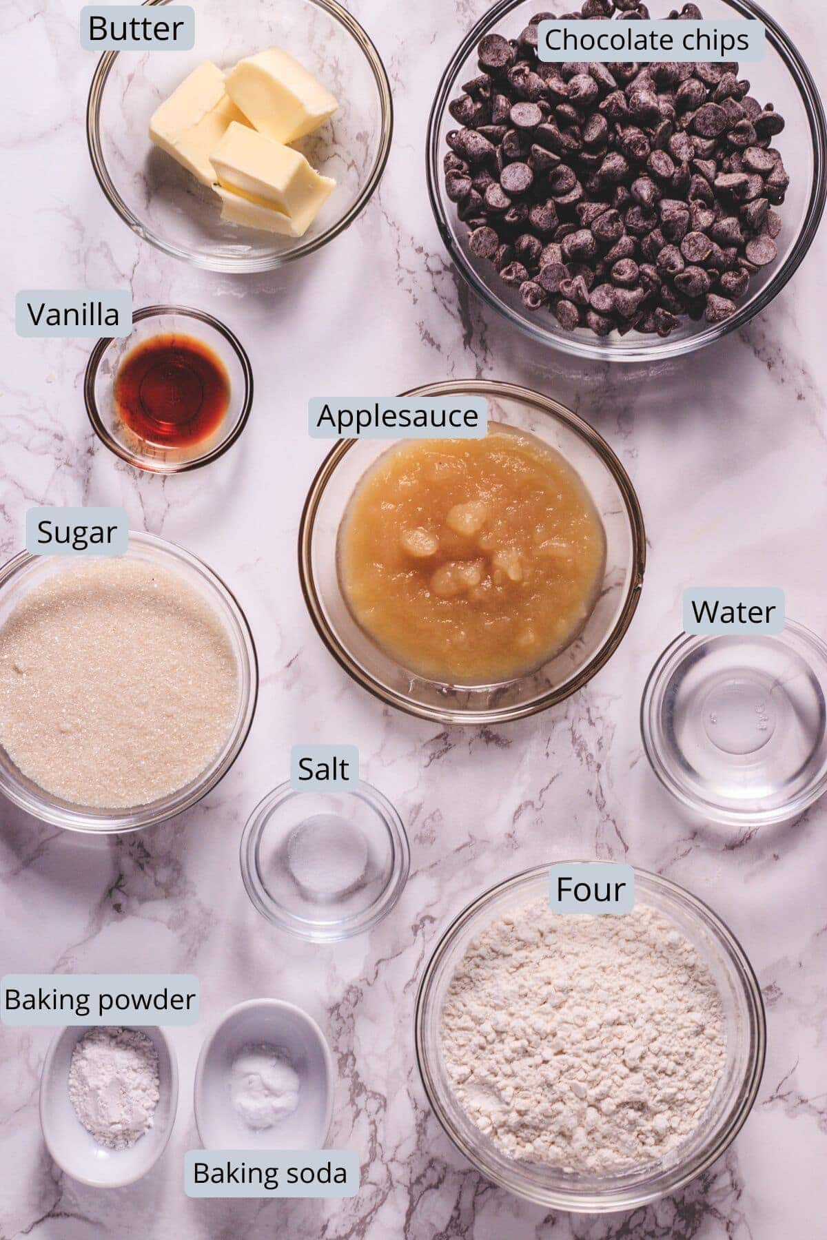 eggless chocolate brownie ingredients