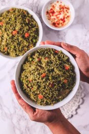 Instant Pot Palak Rice Recipe
