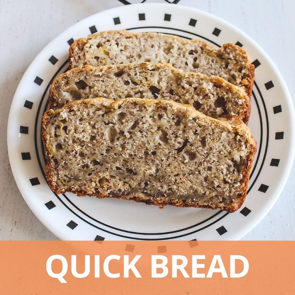 Eggless quick breads