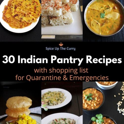 Indian pantry recipes for emergencies