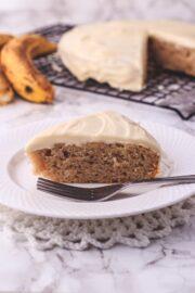 Eggless banana cake recipe
