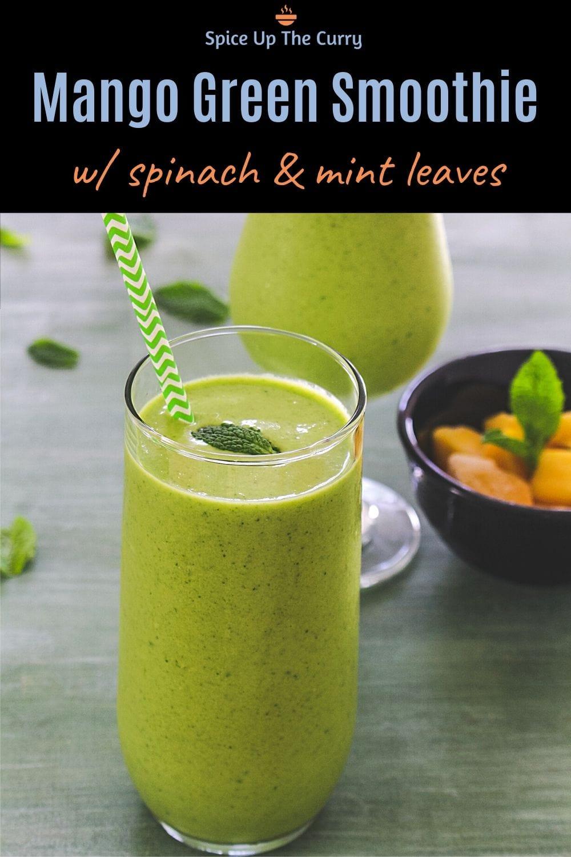 mango green smoothie pin