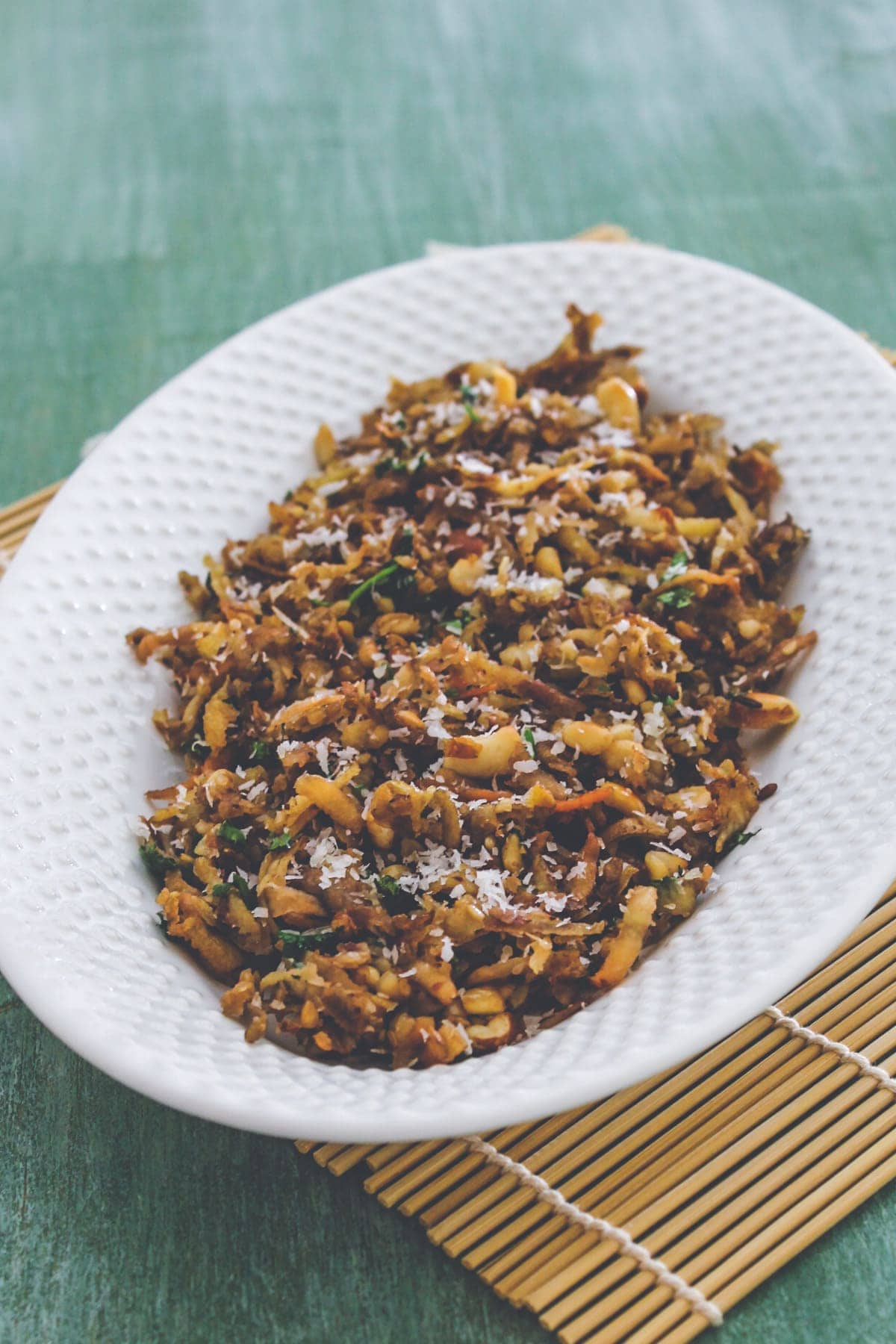 Suran khichdi in a plate