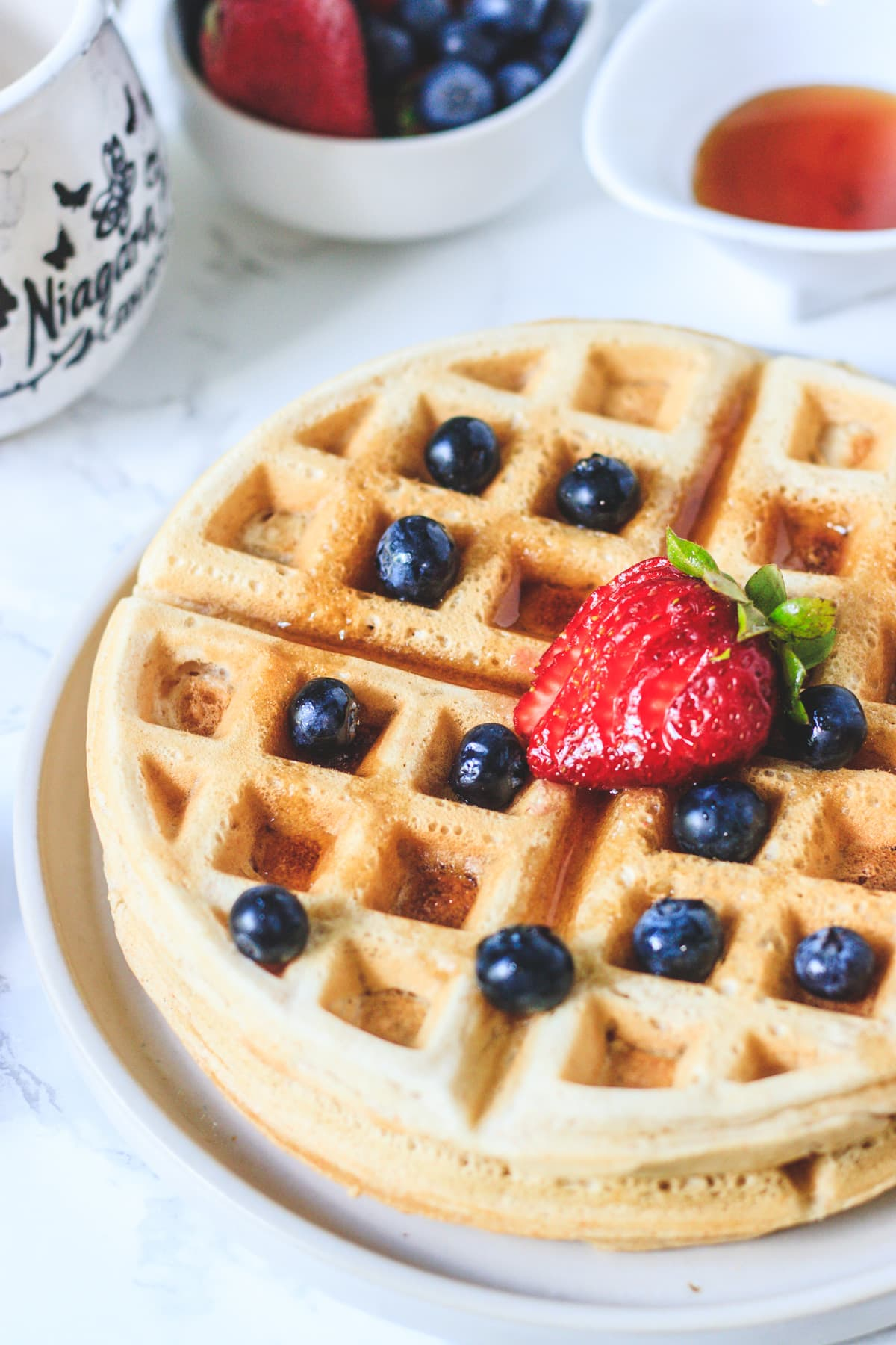 Eggless Waffles Vegan Spice Up The Curry