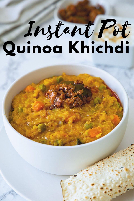 Instant pot quinoa khichdi pin