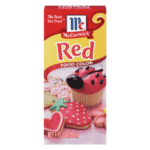 Liquid red food color product image.