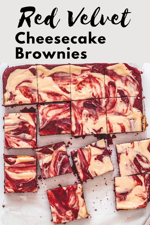 Red Velvet Cheesecake Brownies Pin