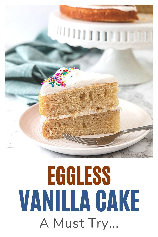 Eggless vanilla cake pin