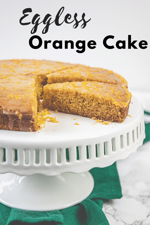 Eggless Orange Cake Pin